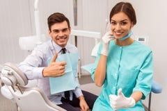 Professioneel tandartsbureau royalty-vrije stock foto's