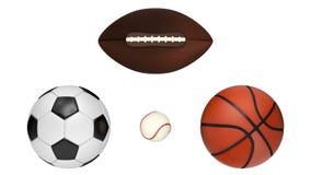 Professioneel Team Sports Balls Stock Afbeeldingen