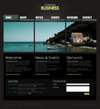 Professioneel websitemalplaatje Royalty-vrije Stock Afbeelding