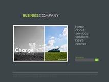 Professioneel websitemalplaatje Royalty-vrije Stock Foto