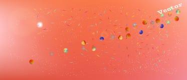 Professionele abstracte ultra brede ruimteachtergrond royalty-vrije illustratie
