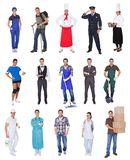 Professionele arbeiders, zakenman, koks, artsen, Stock Foto's