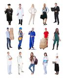 Professionele arbeiders, zakenman, koks, artsen, Stock Afbeelding