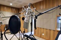 Professionele bestelwagenmicrofoon stock foto