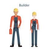 professionele bouwers vector illustratie