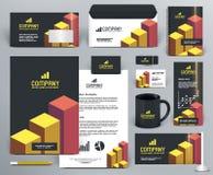 Professionele brandmerkende ontwerpuitrusting met bakstenen Royalty-vrije Stock Afbeeldingen