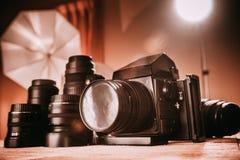 Professionele camera stock afbeelding