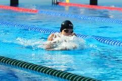 Professionele Concurrerende Zwemmer Stock Fotografie