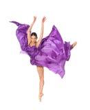 Professionele dansende ballerina Stock Afbeeldingen
