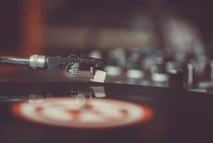 Professionele de muziekspeler van het draaischijf audio vinylverslag Stock Afbeelding