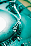Professionele de muziekspeler van het draaischijf audio vinylverslag Royalty-vrije Stock Foto