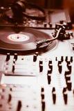 Professionele de muziekspeler van het draaischijf audio vinylverslag Royalty-vrije Stock Afbeelding