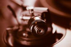 Professionele de muziekspeler van het draaischijf audio vinylverslag Royalty-vrije Stock Fotografie