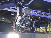 Professionele de studio digitale videocamera van TV in een televisiestu Royalty-vrije Stock Foto