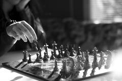 Professionele de voorraadfotografie van het schaakspel Royalty-vrije Stock Foto
