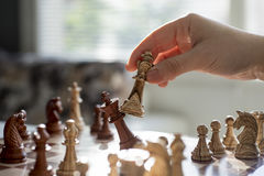 Professionele de voorraadfotografie van het schaakspel Royalty-vrije Stock Afbeeldingen