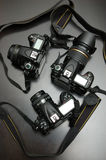 Professionele digitale camera's Royalty-vrije Stock Foto's