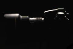 Professionele digitale fotocamera Stock Fotografie