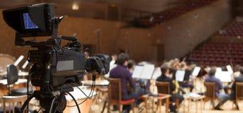 Professionele digitale videocamera Royalty-vrije Stock Afbeeldingen