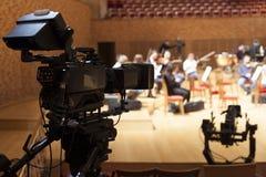 Professionele digitale videocamera Stock Afbeeldingen