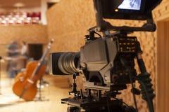Professionele digitale videocamera Royalty-vrije Stock Foto's