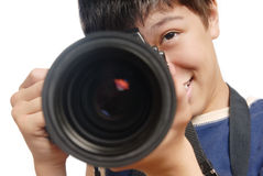 Professionele fotograaf Stock Afbeeldingen