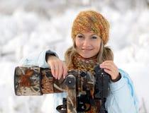 Professionele fotograaf openlucht Royalty-vrije Stock Afbeeldingen
