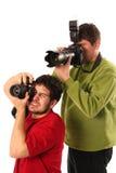 Professionele fotografen royalty-vrije stock afbeelding