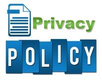 Professionele Groenachtig blauw van het privacybeleid met Symbool Stock Foto's