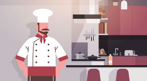 Professionele het Restaurantarbeider van kokin kitchen chef Royalty-vrije Stock Afbeeldingen