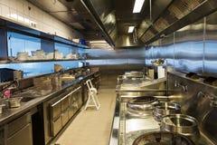 Professionele keuken, meningsteller in staal Royalty-vrije Stock Afbeeldingen