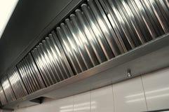 Professionele keuken, uitlaatsystemen Stock Foto's