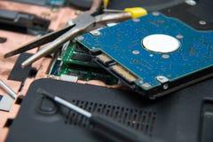 Professionele laptop reparatie Stock Foto