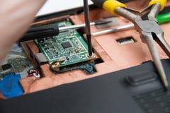 Professionele laptop reparatie Stock Fotografie