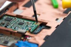 Professionele laptop reparatie Stock Afbeeldingen