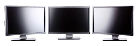 Professionele lcd monitors Stock Foto