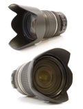Professionele lens op wit Stock Fotografie