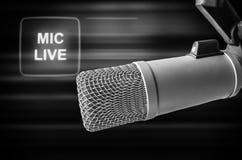 Professionele levende microfoon royalty-vrije stock foto's