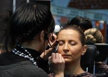 Professionele make-up Stock Foto's