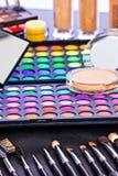 Professionele make-upuitrusting Stock Fotografie