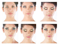 Professionele make-upwaaier van foto's Royalty-vrije Stock Afbeeldingen
