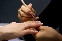 Professionele manicure Royalty-vrije Stock Foto
