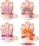 Professionele manicure stock illustratie