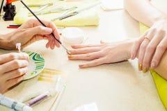 Professionele manicures stock foto's