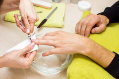 Professionele manicures Stock Foto
