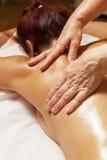 Professionele massage en lymfatische drainage  royalty-vrije stock afbeelding