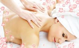 Professionele massage met stroom stock afbeelding