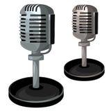 Professionele metaalmicrofoon op tribune Vector Stock Foto's