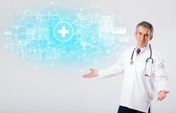 Professionele onderzoeker met stethoscoop royalty-vrije stock foto