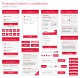 Professionele reeks Webvormen en elementen op ligh Stock Foto